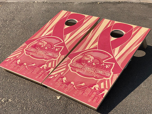 Breast Cancer Awareness Cornhole Boards