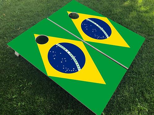 Brazil Flag Cornhole Boards
