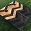 Thumbnail: Raw & Black Chevron Cornhole Boards