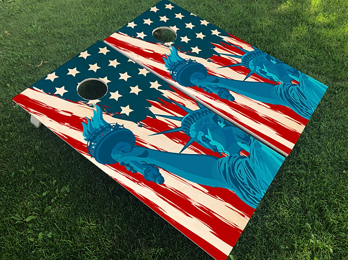 Lady Liberty Cornhole Boards