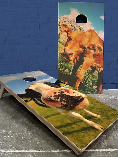 Cow Cornhole Boards