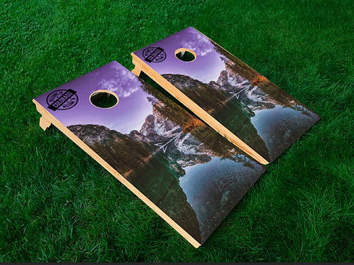 Mountain Lake Cornhole Boards