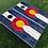 Thumbnail: Rustic Plank CO Flag Cornhole Boards