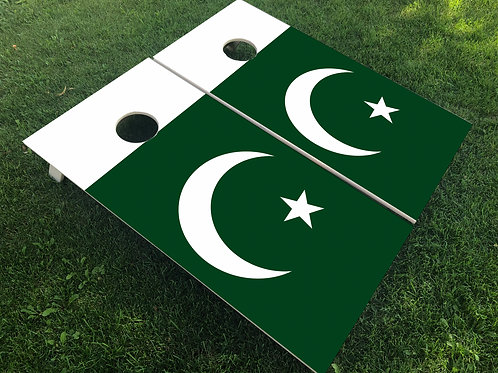 Pakistan Flag Cornhole Boards