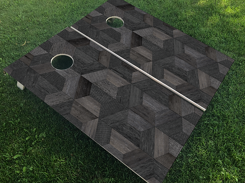 Black Hexagon Cornhole Boards