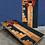 Thumbnail: Denver Skyline Wood Plank Cornhole Boards