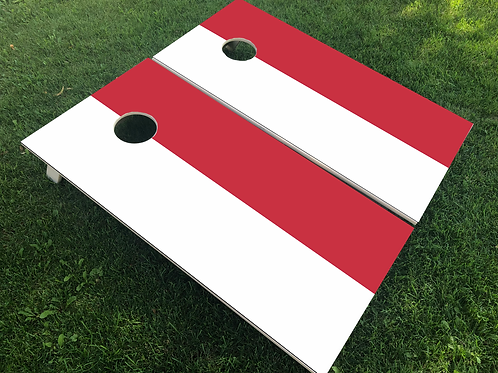 Indonesia Flag Cornhole Boards