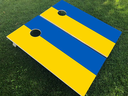 Ukraine Flag Cornhole Boards