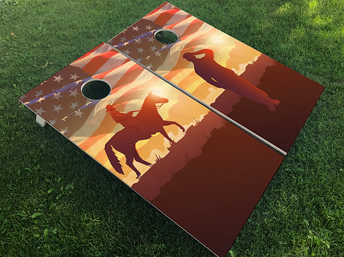 American Soldier Cornhole Boards