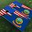 Thumbnail: Idaho American Split Flag Cornhole Boards