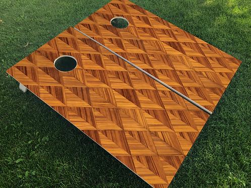 Diamond Wood Pattern Cornhole Boards