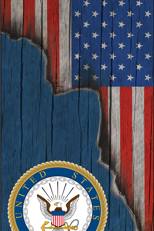 American Flag/Navy Cornhole Boards