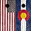Thumbnail: Rustic Plank American/CO Flag Cornhole Boards