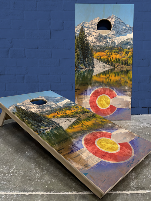 Maroon Bells Colorado Cornhole Boards