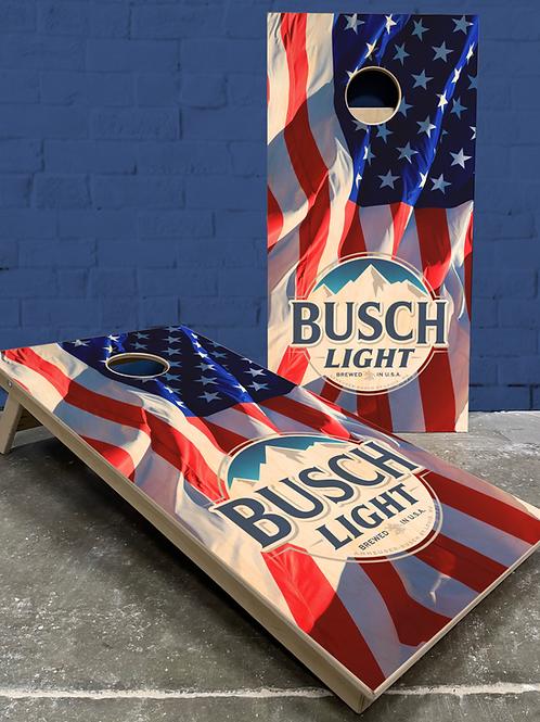 American Flag Busch Cornhole Boards