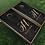 Thumbnail: Gold and Slate Wedding Monogram Cornhole Boards