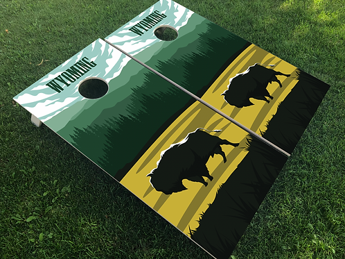 Wyoming Poster Style Cornhole Boards