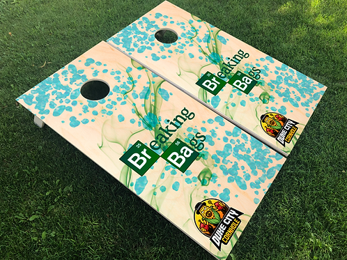 Duke City Blue Crystal Cornhole Boards