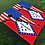 Thumbnail: Arkansas American Split Flag Cornhole Boards