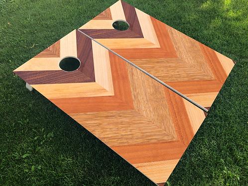 Herringbone Wood Grain Cornhole Boards