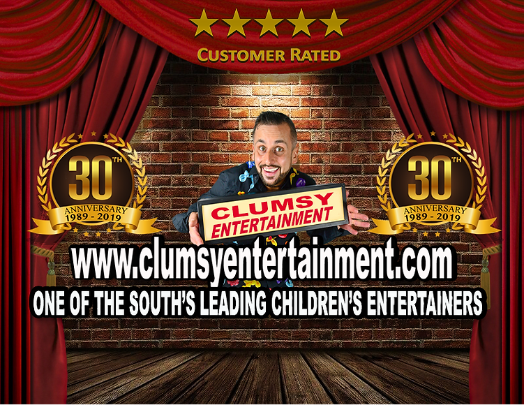 CLUMSY ENTERTAINMENT CHILDREN'S ENTERTAINER www.clumsyentertainment.com l.png
