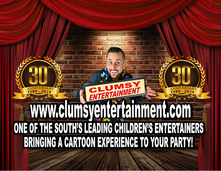 CLUMSY ENTERTAINMENT CHILDREN'S ENTERTAINER WEST SUSSEX AND HAMPSHIRE