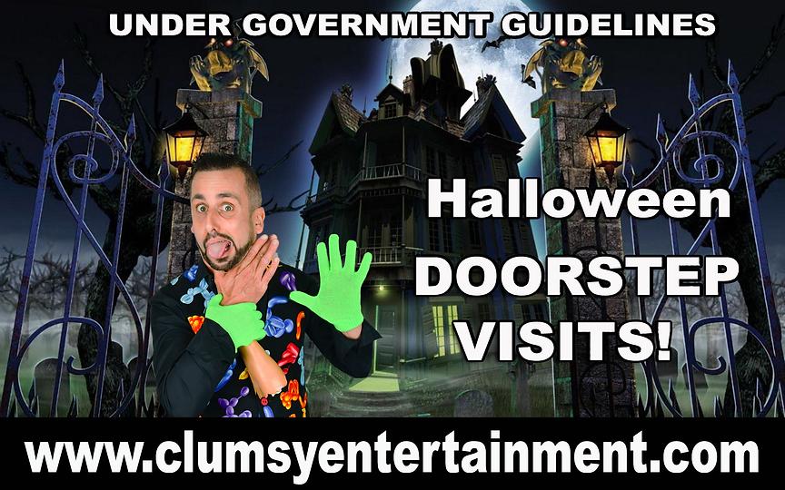 halooween DOORSTEP www.clumsyentertainme