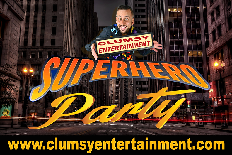 Superhero-party with clumsy entertainmen