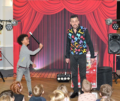 Christening family magic shows performed