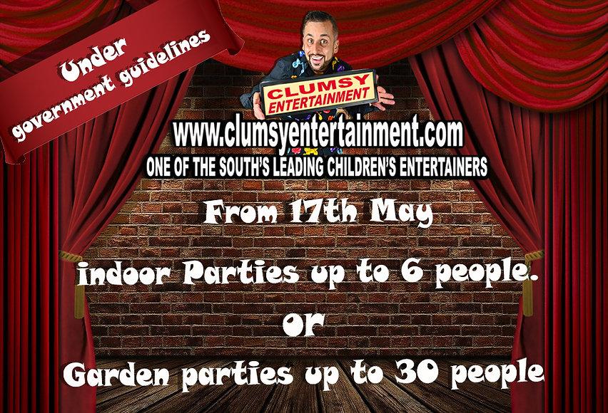 Covid Garden parties 30 people indoor 6.