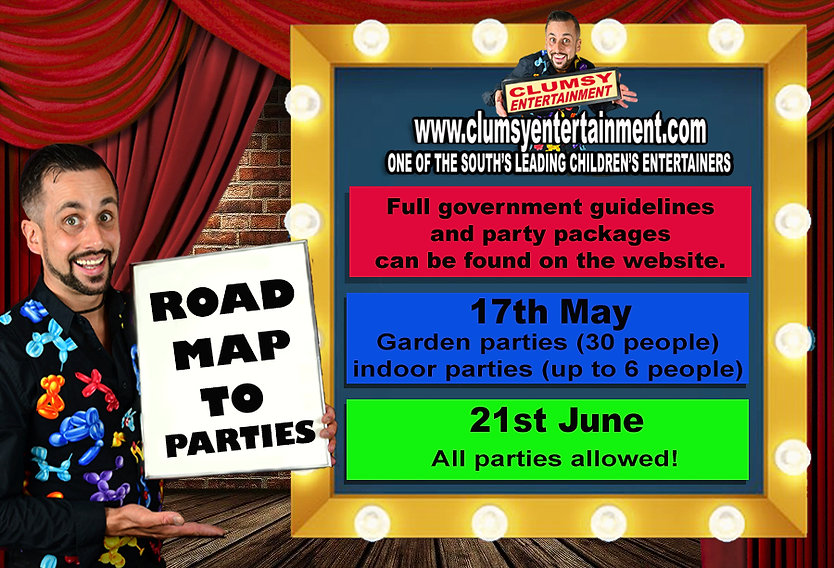 covid road map to birthday parties with