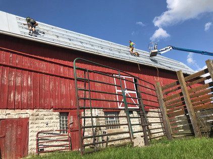 Mounting Optimizers on a Steep Barn Roof