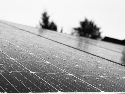 Snow Sprinkled Solar Panels