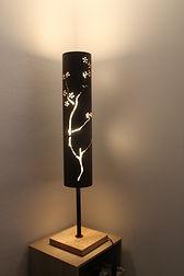 lampe motif cerisier japonnais