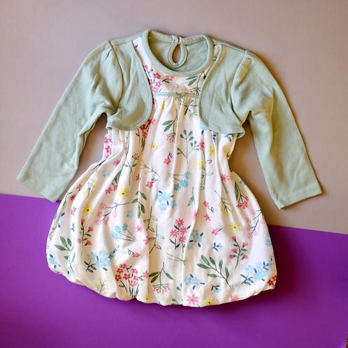 Šaty s květinami a nadýchanou sukní 9-12m