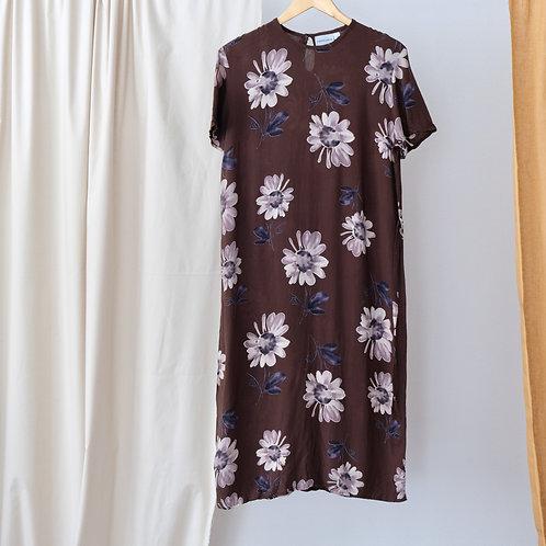 Šaty s květinami - L