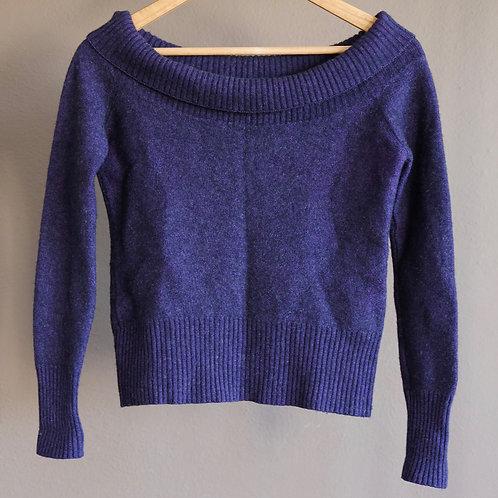 """Fiallový svetr """"pryč z ramen"""" - S"""