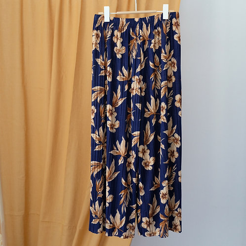 Volné plisované kalhoty s vysokým pasem S/M/L