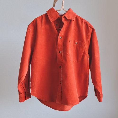 Cihlová manšestrová košile 5-6y