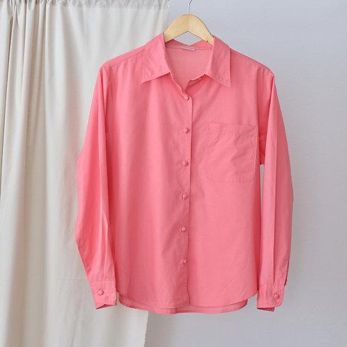 Růžová košile - Oversized