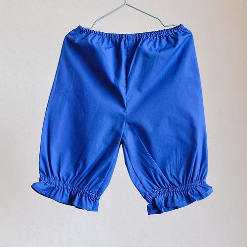 Královsky modré kalhoty s nařasením 2-3y