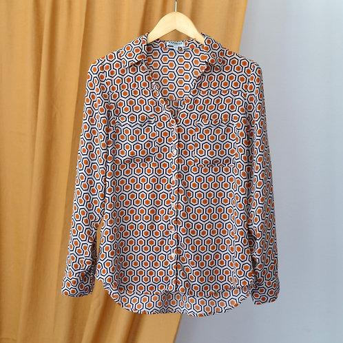 Košile s geometrickým vzorem L