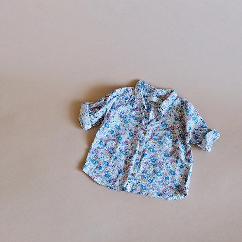 Barevná košile se vzorem květin 12-18m