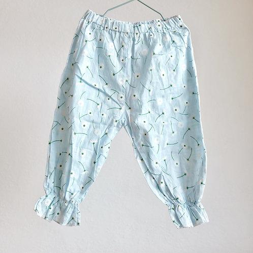 Tenké kalhoty s květinami 18-24m