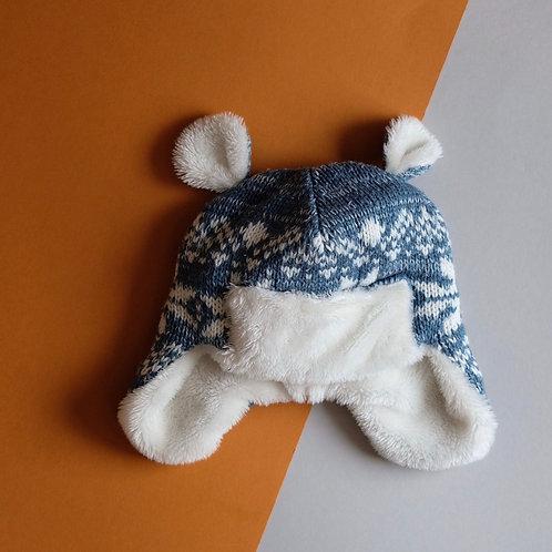Čepice s oušky - novorozenec