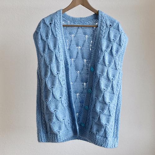Ručně pletená vlněná vesta - Oversized