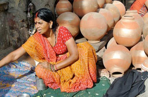 Rajasthani woman  in Jaipur, India