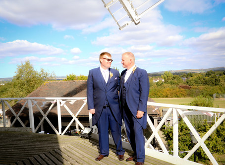 Alex & Wayne - Willesborough Windmill Wedding Photographer