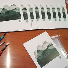 Packing prints and paintings, using my new #chapa.jpg