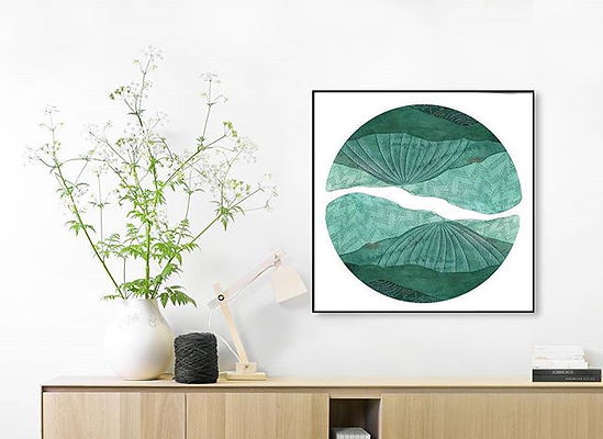 My super green, limited edition art print, Upon the Mountains and the Moores - I'm a big fan of gree